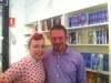 Con `Lady Cherry´ en un taller en la librería Bubok